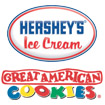 Hershey's Ice Cream Featuring Great American Cookies Logo