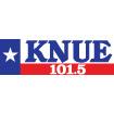 101.5 FM KNUE Logo