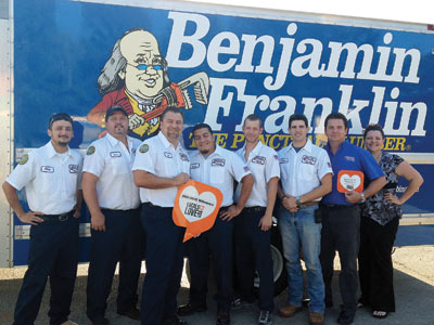 Benjamin Franklin Plumbers with Locals Love Us award
