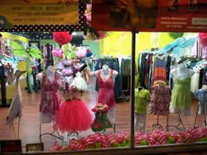 Peek A Boutique shop window