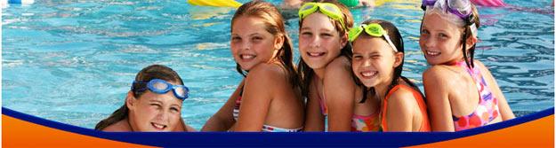 Kids enjoying some pool time