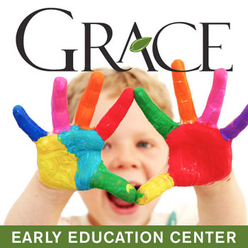 Grace Early Education Center - child with paint on hands